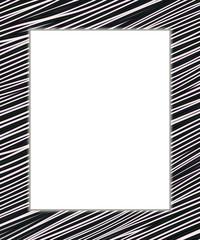 Black and white digital frame