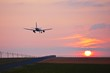 Landing at the sunset