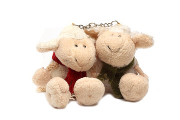 old toy sheep that combined chain