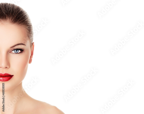 poster of Skin care and rejuvenation therapy on pretty woman face.