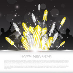Luxury new year background with fireworks