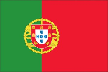 Illustration of the flag of Portugal