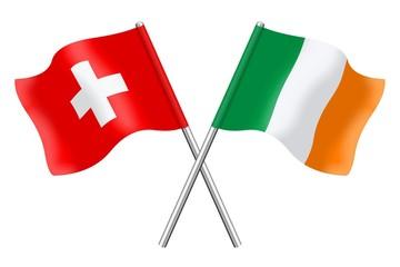 Flags: Switzerland and Ireland