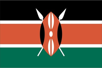 Illustration of the flag of Kenya