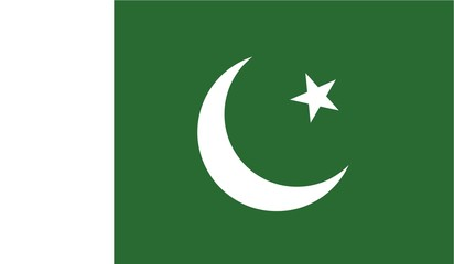 Illustration of the flag of Pakistan