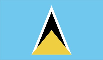 Illustration of the flag of Saint Lucia