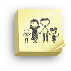 Post-it famille crayon
