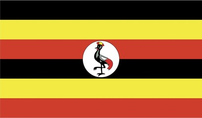 Illustration of the flag of Uganda