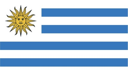 Illustration of the flag of Uruguay