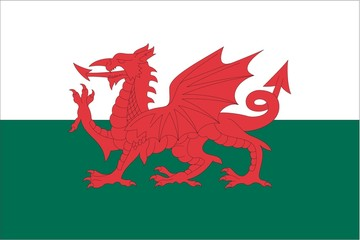 Illustration of the flag of Wales