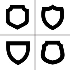 Shield icons set vector illustration