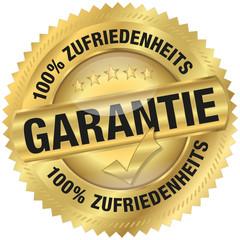 100% Zufriedenheitsgarantie - Goldvignette