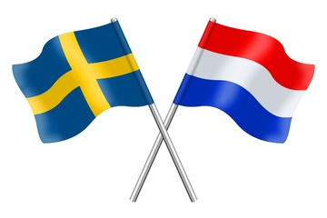 Flags : Sweden and the Netherlands