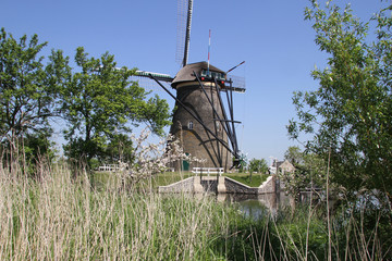 Dutch windmill at Kinderdijk, The Netherlands