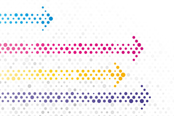 arrows composed of small polka dots