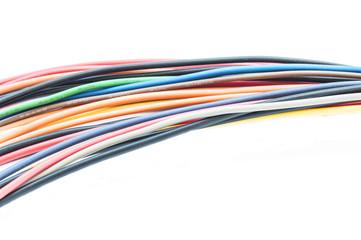 цветные провода на белом фоне