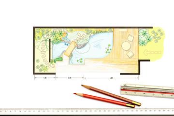 Water garden design Plan for backyard