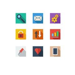 web navigation icons set
