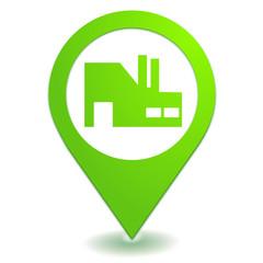 industrie sur symbole localisation vert