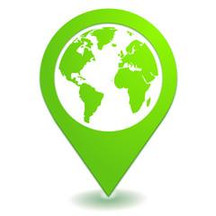 localisation gps sur symbole localisation vert