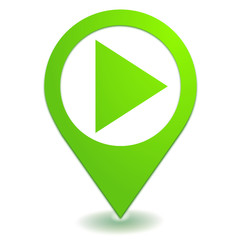 play sur symbole localisation vert