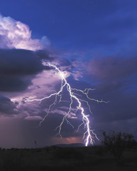 A Bolt of Lightning in the Desert Night