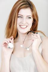 Female doctor smiling