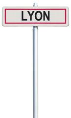 Lyon, panneau entrée de ville