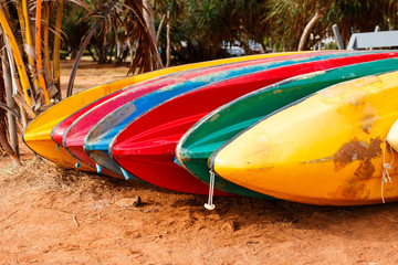 colorful of canoe