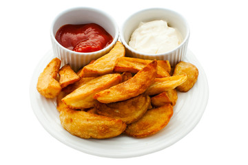 Chips with Mayonnaise and Tomato Dips