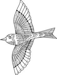 Abstract Bird Fly