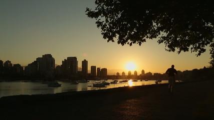 Seawall Jog and Cycle at Sunrise, Vancouver