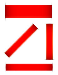 red bookmark set