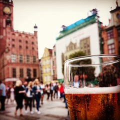 Cold beer on a hot day, Gdansk Poland.