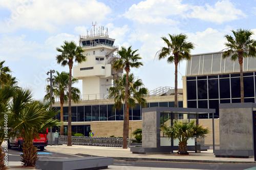 Plexiglas Luchthaven Aeropuerto de Tenerife Sur. Islas Canarias