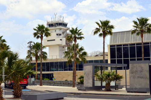 Aluminium Luchthaven Aeropuerto de Tenerife Sur. Islas Canarias