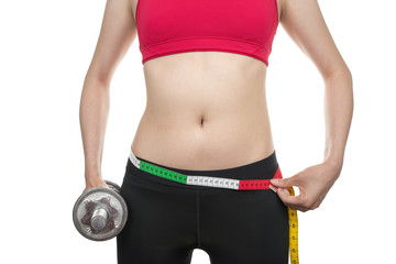 Slim waist with dumbbells