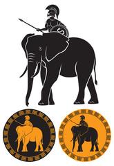warrior on an elephant