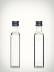 Empty bottle isolated on a white background