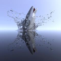 shark robot attack