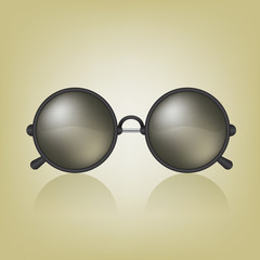 Retro sunglasses illustration