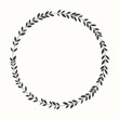 Vector laurel wreath, silhouette - 68846447
