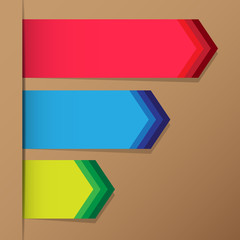 Colorful arrow vector for design work