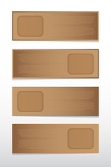 Infographic vector paper tag for design work