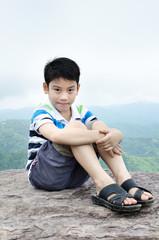 Portrait of little asian cute boy
