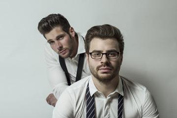 zwei Businesspunks