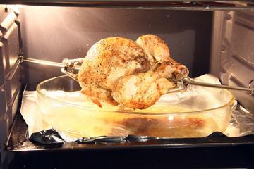 Poulet roti et four