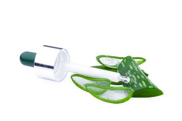 Aloe Vera leaf. Skin care concept