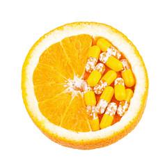 Vitamin C as Orange Fruit