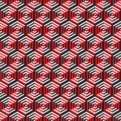Seamless Abstract Optical Illusion Pattern